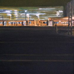 Alan Hudleston Accross The Tracks; Cambridge Station Limited Edition Print. size A3 (297x420mm)