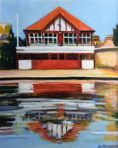 Alan Hudleston Boathouse on the Cam Limited Edition Print. size A3 (297x420mm)