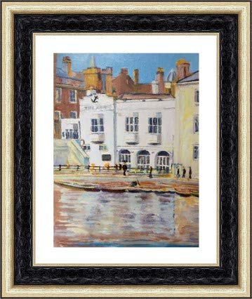 Alan Hudleston Pub on the Cam Limited Edition Print. size A3 (297x420mm)